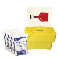 Winter Safety Grit Bin Kit - With White Salt