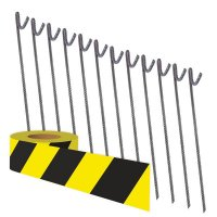 Barrier Tape & Fence Pins Kit