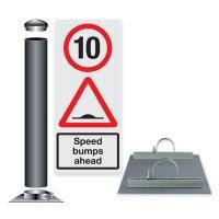 Traffic Speed Sign & Post Kit