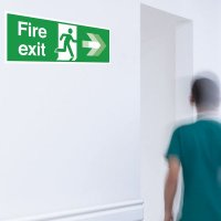 Seton Motion - Fire Exit Right Sign