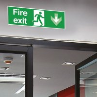 Seton Motion - Fire Exit Down Sign