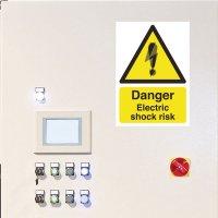 Seton Motion - Danger Electric Shock Risk Sign