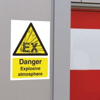 Seton Motion - Danger Explosive Atmosphere Sign