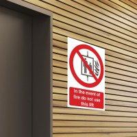 Seton Motion - Do Not Use Lift Sign