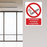 Seton Motion - No Smoking Including E-Cigarettes Sign