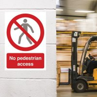 Seton Motion - No Pedestrian Access Sign
