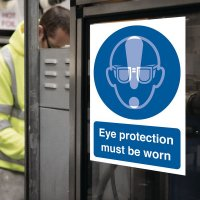 Seton Motion - Eye Protection Must Be Worn Sign