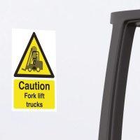 Seton Motion - Caution Fork Lift Trucks Sign