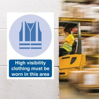 Seton Motion - High Visibility Clothing Must Be Worn Sign