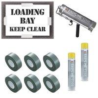 Loading Bay Keep Clear Stencil Kit
