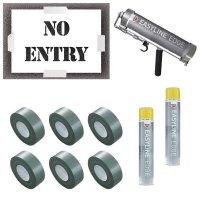 No Entry Stencil Kit