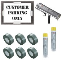 Customer Parking Only Stencil Kit