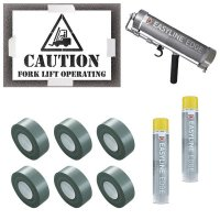 Caution Forklift Operating Stencil Kit