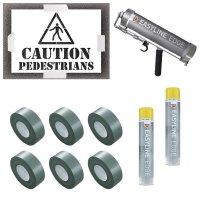 Caution Pedestrians Stencil Kit