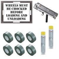 Wheels Must Be Chocked Stencil Kit