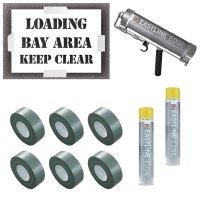 Loading Bay Area Keep Clear Stencil Kit