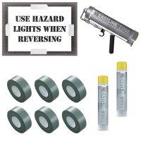 Use Hazard Lights When Reversing Stencil Kit