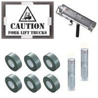 Caution Forklift Truck Stencil Kit