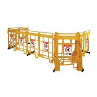 Seton EasyProtect Safety Barrier with No Entry Sign