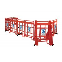 Seton EasyProtect Safety Barrier with Social Distancing Sign