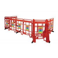 Seton EasyProtect Safety Barrier with Vaccine Centre Sign