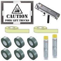 Indoor Caution Forklift Truck Stencil Kit