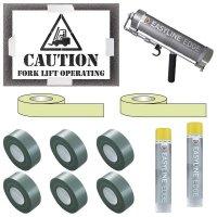 Indoor Caution Forklift Truck Operating Stencil Kit
