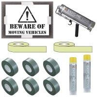 Indoor Beware Moving Vehicles Stencil Kit