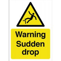 Constrution Signs - Warning Sudden Drop
