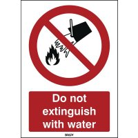 ToughWash - Do Not Extinguish With Water Sign