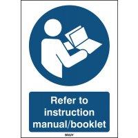 ToughWash - Refer To Instruction Manual Sign