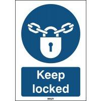 ToughWash - Keep Locked Sign