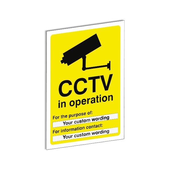 Custom CCTV Signs - Security & CCTV Signs