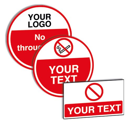 Custom Anti-Slip Prohibition Floor Signs - Road Traffic Signs