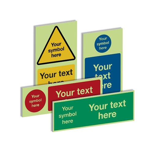 Custom Nite-Glo Photoluminescent Safety Signs - Safety Labels