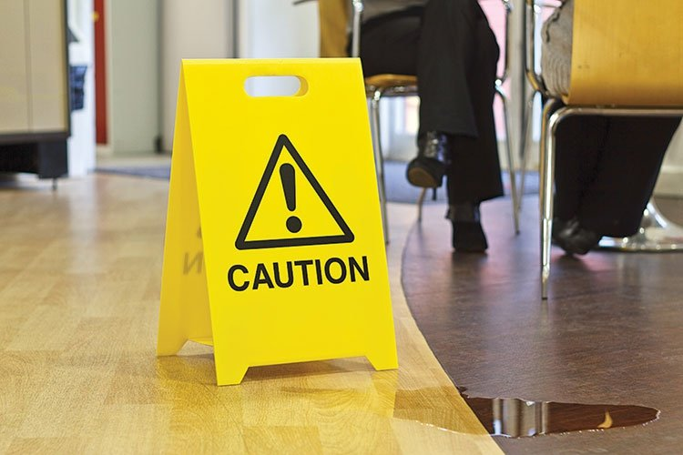 Custom Floor Safety A Board - Safety Signs