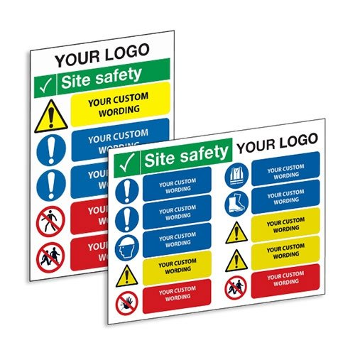 Custom Site Safety Signs - Construction Site Information Signs