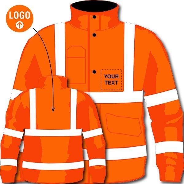Custom Hi-Vis Bomber Jacket - Protective Clothing