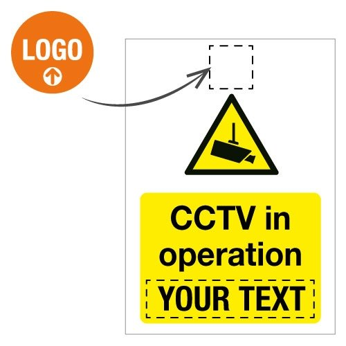 Custom CCTV Signs with Logo  - Seton