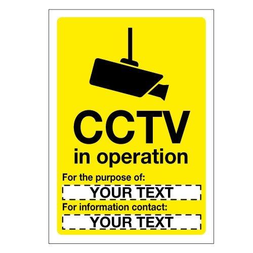 Custom CCTV Signs - Seton