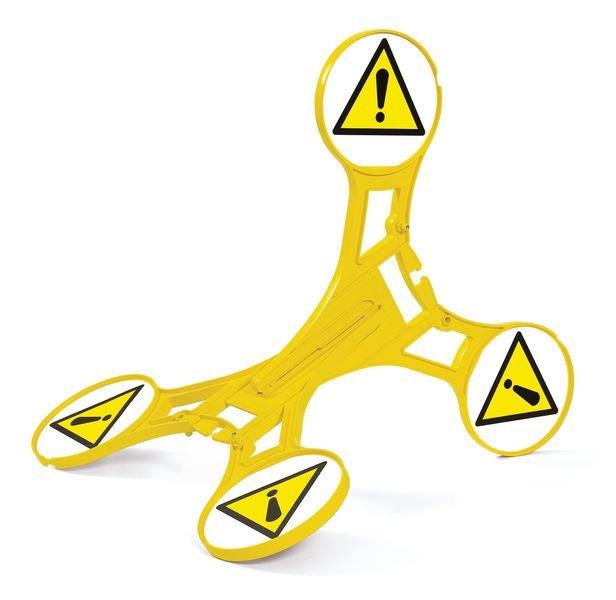 Seton 360 Floor Stand Caution Sign - Hazard Signs
