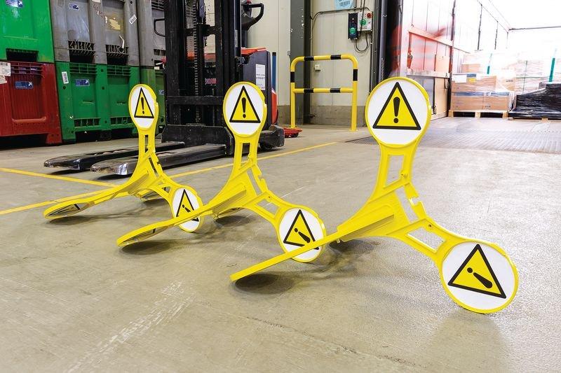 Seton 360 Floor Stand Caution Sign