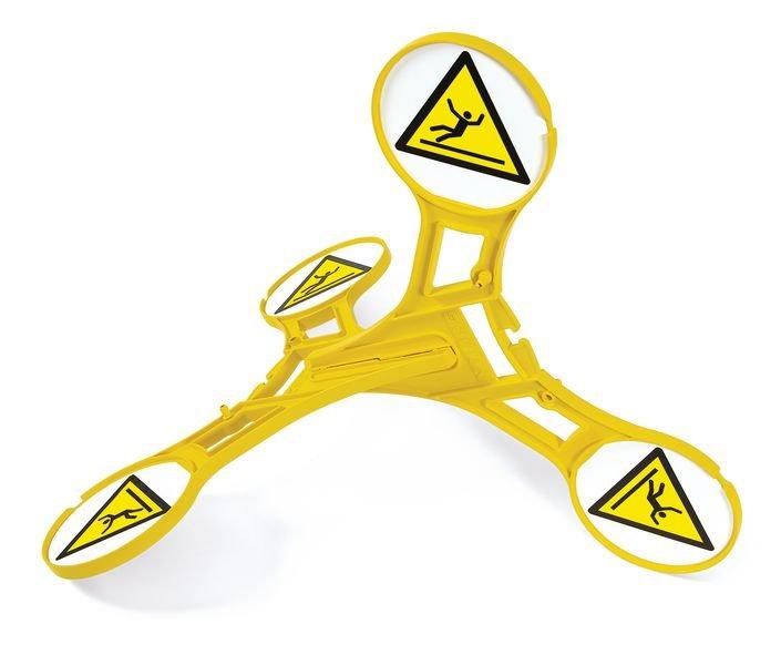 Seton 360 Floor Stand - Slippery Surface - Hazard Signs