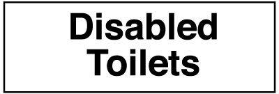 Disabled Toilets Washroom Sign