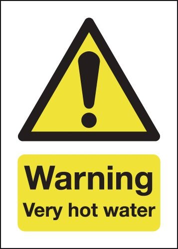 Warning Very Hot Water Magnetic Sign