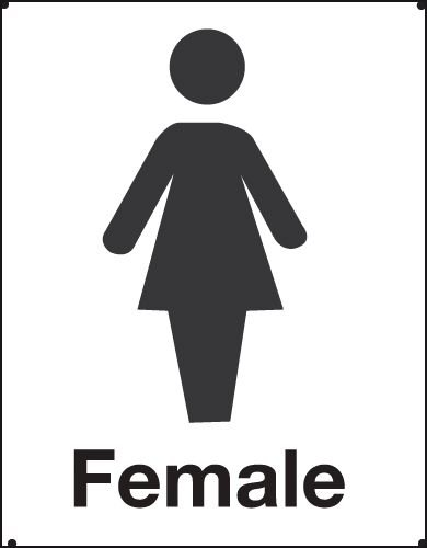 Female Toilet Vandal Resistant Sign