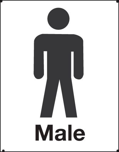 Male Toilet Vandal Resistant Sign