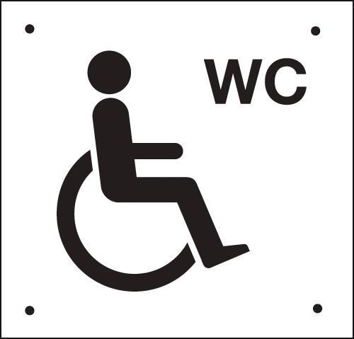 Accessible Toilet Wheelchair Vandal-Resistant Sign