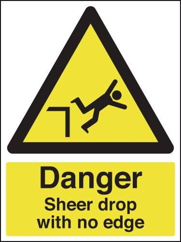 Danger Sheer Drop With No Edge Sign