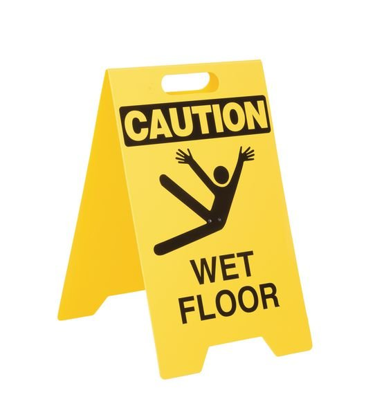 Double-Sided Heavy-Duty Floor Stands - Caution Wet Floor